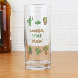 Personalised Catcus Glass