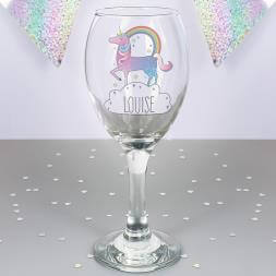 Personalised Unicorn Wine Glass