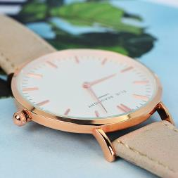 Personalised Stone Leather Watch
