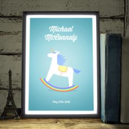 Personalised Rocking Unicorn Light Box
