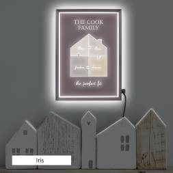 Personalised Family Light Box