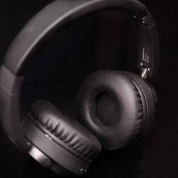 Groov-e Fusion Wireless Bluetooth Or Wired Stereo Headphones - Black