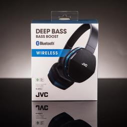 JVC Wireless Lightweight Bluetooth Headphones - Blue