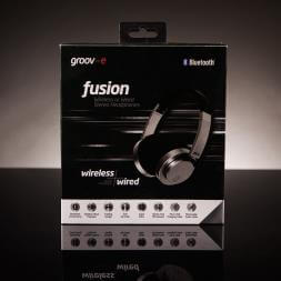 Groov-e Fusion Wireless Bluetooth Or Wired Stereo Headphones - Silver