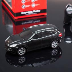 Remote Control Porsche Cayenne Turbo With Lights - Black