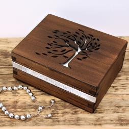 Personalised Tree Filigree Trinket Box