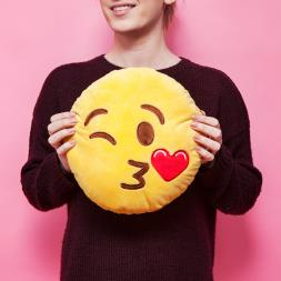 Emoji Cushion - Wink Kiss