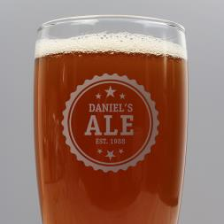 Personalised Craft Ale Glass