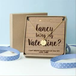 Personalised Will You Be My Valentine Necklace