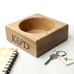 Personalised Solid Oak Stash Tray