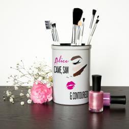 Personalised Make Up Brush Holder