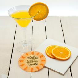 Personalised Get Me A Cocktail! Glass Coaster