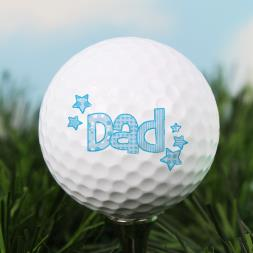 Personalised Set Of 3  Dad Golf Balls
