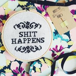 S**t Happens Cross Stitch Kit
