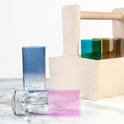 Personalised LSA Coloured Shot Glass Trug