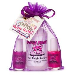Piggy Paint - Girls Rule! Non-Toxic Nail Varnish And Remover Set
