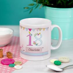 Personalised 18th Birthday Craft Mug
