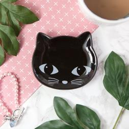 Black Cat Trinket Dish