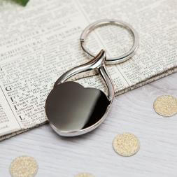 Personalised Heart Photo Key Ring