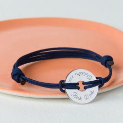 Personalised Open Disc Bracelet