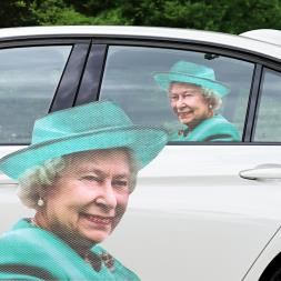 Ride With The Queen Car Sticker