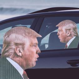 Ride With Trump Car Sticker