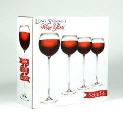 Long Stemmed Wine Glasses x 4