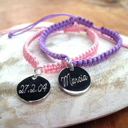 Personalised Braided Disc Bracelet