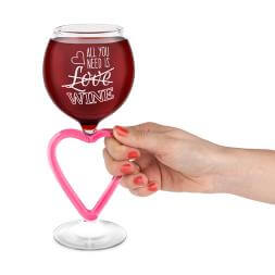 I Heart Wine Glass