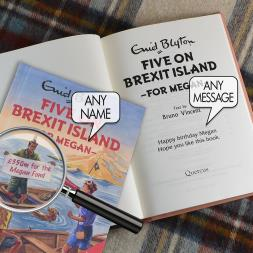 Personalised Five On Brexit Island