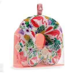 Fabulous Flamingo Neck Pillow And Eye Mask