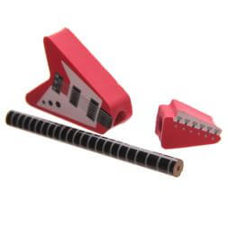 Rock Guitar Pencil And Eraser Set