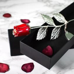 Personalised Silver Plated Rose