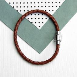 Personalised Men's Leather Bracelet