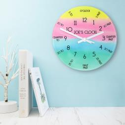 Personalised Tell The Time Wall Clock