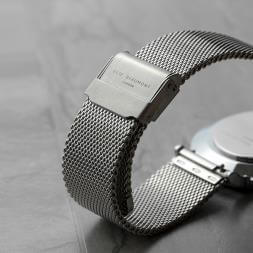 Personalised Silver Mesh Strapped Watch
