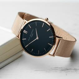Personalised Gold Mesh Strapped Watch