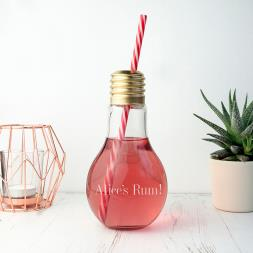 Personalised Light Bulb Cocktail Glass
