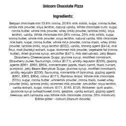 "Unicorn Chocolate Pizza 7"""