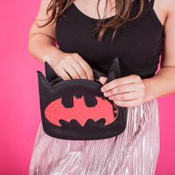 Ladies Batman Gold Cross Body Bag