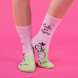 Cute, But Psycho... But Cute Ladies Socks
