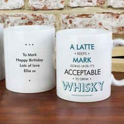 Personalised Acceptable To Drink Mug - Blue
