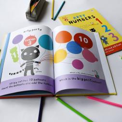 Personalised Arty Mouse Numbers Book
