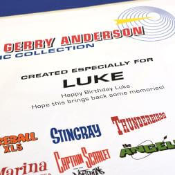 Personalised Thunderbirds Gerry Anderson Collection Book