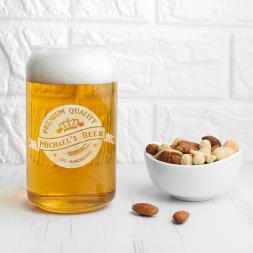 Personalised Premium Quality Beer Can Glass