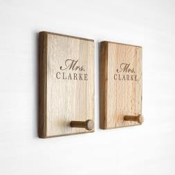 Personalised Couples Peg Hook