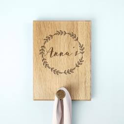 Personalised Wreath Peg Hook