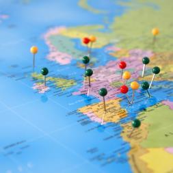 Personalised World Traveller Map - Framed