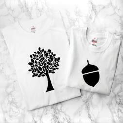 Personalised Daddy And Me Acorn T-Shirts