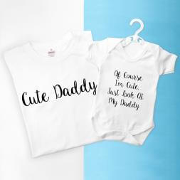 Personalised Daddy And Me Cuties Set